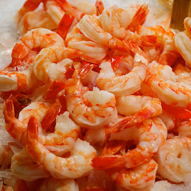 Peeled Shrimp by Robert Briggs - Food & Drink Meats & Cheeses ( seattle, shrimp, seafood, pike place market, fish vendor,  )