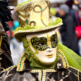 by Bruno Brunetti - People Musicians & Entertainers ( carnival, 2015, masks, venice, italy )