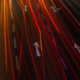 Lightrails everywhere by Darko epa Trajkovski - Abstract Light Painting ( lights, street, night, road, lightrail )