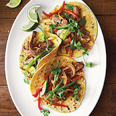 Vegetable and Steak Fajitas with