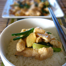 Stir-fried Chicken with Ginger and Scallions