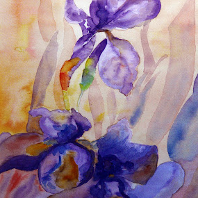 Iris by Jasna Dragun - Painting All Painting ( impressions, watercolor, nature, beauty, flower )