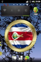 Screenshot of Costa Rica flag clocks