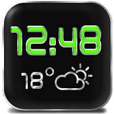 LED Digi Clock Weather Widget