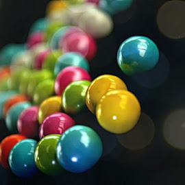 Circles of Matter by DeDe PalmerWells - Artistic Objects Other Objects ( gumballs, candy, colorful, glass, shiny )