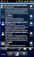 Screenshot of Pure messenger widget