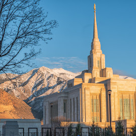 Quintessentially Ogden by Ryan Moyer - Buildings & Architecture Places of Worship ( mormon, church, utah, ogden temple, sunset, ogden, buildings, architecture, lds temple, mt ogden, lds )