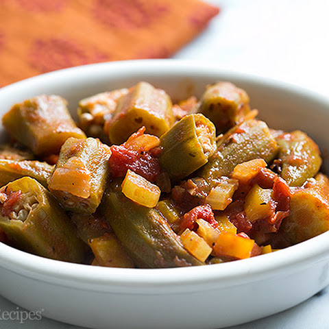 Stewed Okra and Tomatoes Creole Style