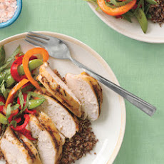 Grilled Lemongrass Chicken with Red Quinoa and Vegetables