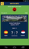Screenshot of Brazil 2014 football results