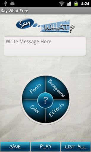 【免費生活App】Say What? Free-APP點子