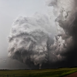 Alpena, SD EF4 Wide Angle by Tanner Schaaf - Landscapes Weather ( clouds, nature, funnel, wideangle, meso, damage, weather, storm, tornado, rain, ef4, closeup )
