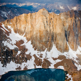 Mountain Reflection in Lake by Joe Boyle - Landscapes Mountains & Hills ( sierra nevada, mountain, jmt, lake, john muir trail )