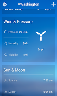 Weather forecasts - screenshot