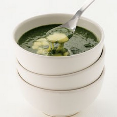 Spinach Soup with Fontina