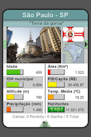 Screenshot of Top Cards - Cidades do Brasil