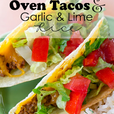 Garlic Lime Rice and Oven Tacos