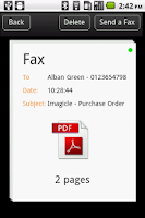 Screenshot of Imagicle Fax