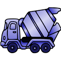 Ad free Trucks Coloring Book icon