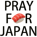 Pray for Japan Sushi Clock icon