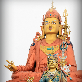 The statue of Guru Padmasambhava by Brahma Prasad - City,  Street & Park  Historic Districts ( brahma, guru, padmasambhava, india, travel, sikkim, namchi, prasad )