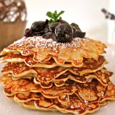 Oatmeal Pancakes with a Blueberry Compote