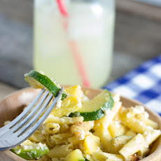 ZUCCHINI SQUASH MAC AND CHEESE (GLUTEN-FREE)