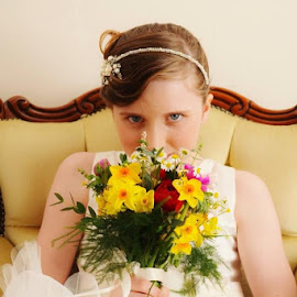 Beauty  by Tanya Couchman - Wedding Details ( love, wedding, stare, flowers, beautiful girl )