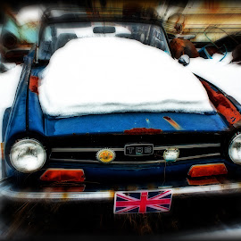TR6 by Stan Lupo - Digital Art Things ( tr6, car, hdr, sports car, british sports car, digital art, junk car,  )