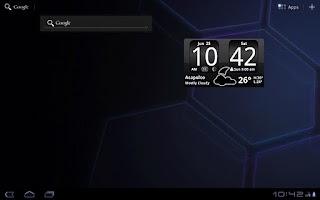 Screenshot of FlipClock BlackOut Widget 4x2