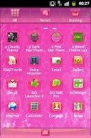 Screenshot of GO Launcher Pink Sweet Theme