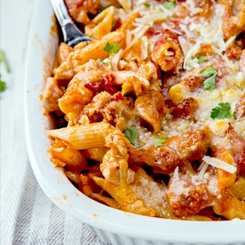 Chicken and Penne Parmesan Casserole