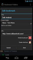 Screenshot of Bookmark Folders