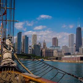 My kind of town by Bob Gorman - Transportation Boats ( sailing, tall ships, boats, chicago )