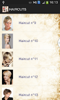 Screenshot of Haircut Catalog