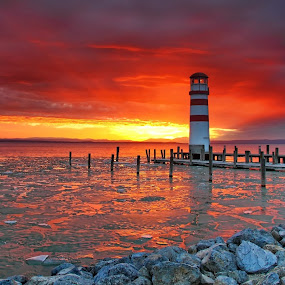 Lighthouse at Neusiedler See by Matej Kováč - Landscapes Sunsets & Sunrises (  )