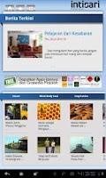 Screenshot of Intisari for Tablet