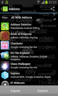 Addons Detector Screenshot