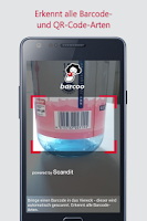 Screenshot of Barcode & QR Scanner barcoo