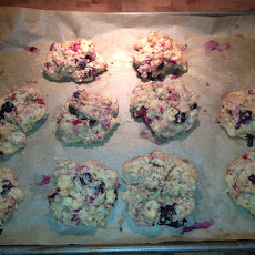 Doubleberry Drop Scones