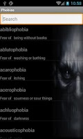 Screenshot of Phobias