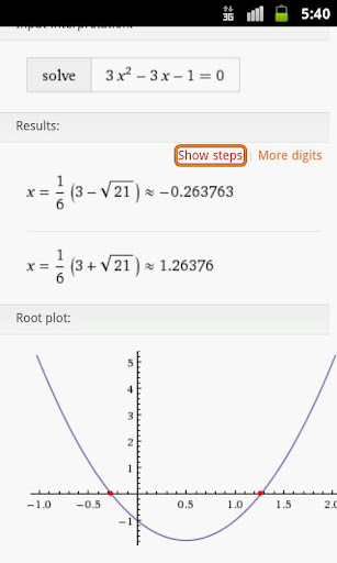 quadratic-equation-solver for android screenshot