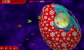 Screenshot of Chicken Invaders 4 Xmas