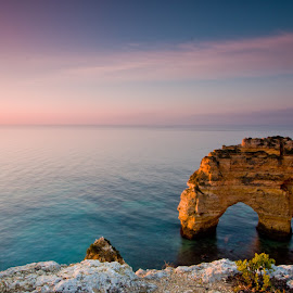 Sunrise colours by Joel Bernardo - Landscapes Caves & Formations ( water, sea, sunrise, beach, landscapes )