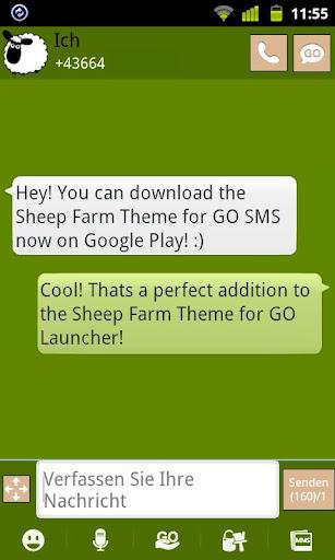 Sheep Farm Theme GO SMS