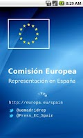 Screenshot of Comisión Europea en España