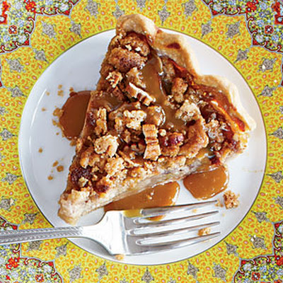 Open-Face Apple Pie with Salted Pecan Crumble