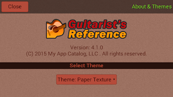 Screenshot of Guitarist's Reference