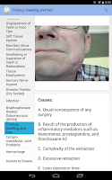 Screenshot of Oral Surgery Complications