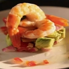 Prawn, Avocado And Lettuce Stack